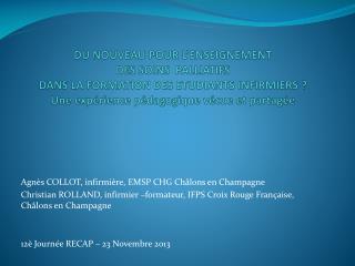 Agnès COLLOT, infirmière, EMSP CHG Châlons en Champagne