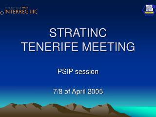 STRATINC TENERIFE MEETING