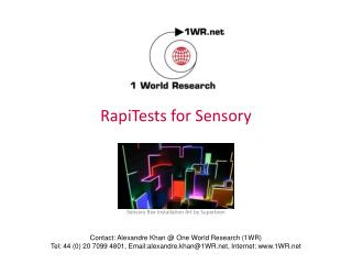 RapiTests for Sensory