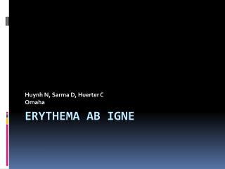 Erythema Ab Igne