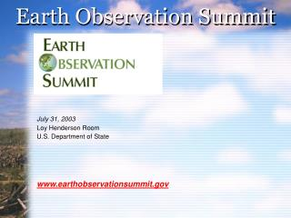 Earth Observation Summit