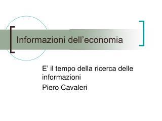 Informazioni dell�economia
