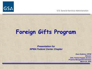 Foreign Gifts Program