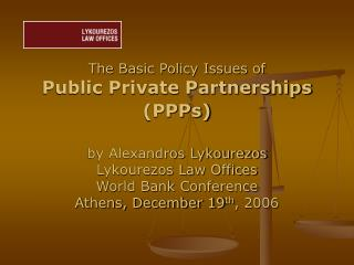 Public Private Partnerships (PPPs) Definition: