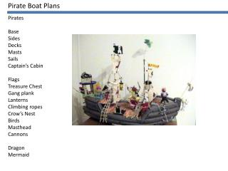 Pirate Boat Plans