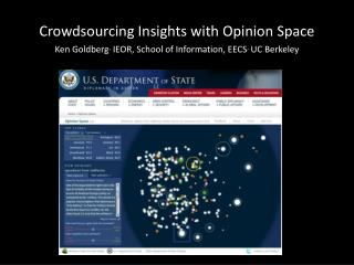 Crowdsourcing  Insights with Opinion Space