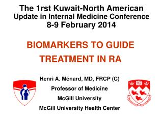 BIOMARKERS TO GUIDE TREATMENT IN RA