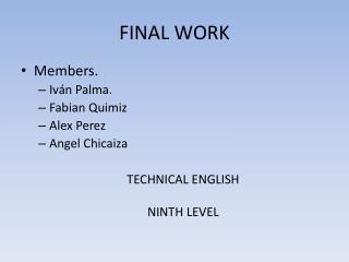 FINAL WORK
