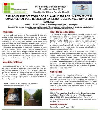 ESTUDO DA INTERCEPTAÇÃO DE ÁGUA APLICADA POR UM PIVÔ CENTRAL