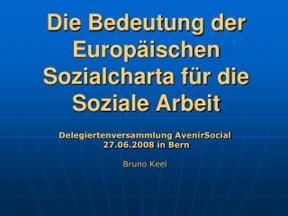 Die Bedeutung der Europäischen Sozialcharta für die Soziale Arbeit