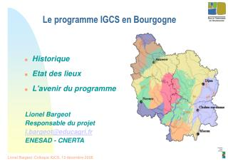 Le programme IGCS en Bourgogne