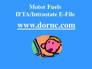 Motor Fuels  IFTA/Intrastate E-File