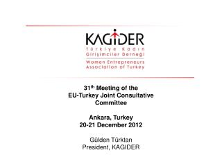 31 th M eeting of the  EU-Turkey Joint Consultative Committee Ankara, Turkey 20-21 December  201 2
