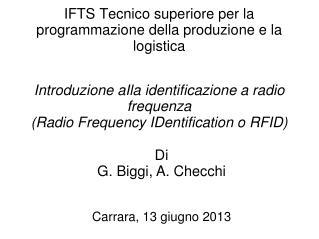 IFTS Tecnico superiore per la programmazione della produzione e la logistica