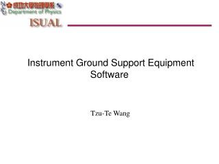 Instrument Ground Support Equipment Software