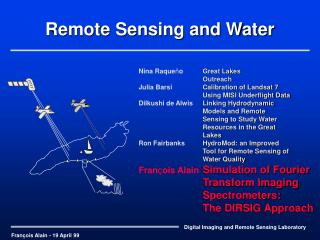 Remote Sensing and Water