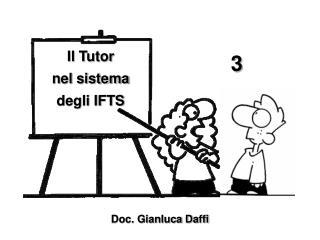 Il Tutor  nel sistema  degli IFTS