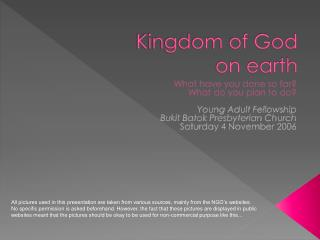 Kingdom of God on earth