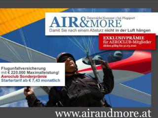 AIR & MORE Damit sie nach einem Absturz nicht in der Luft hängen!