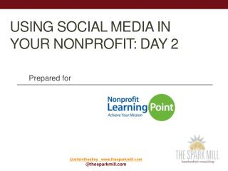 Using Social Media in Your Nonprofit: Day 2