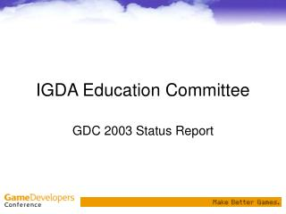 IGDA Education Committee