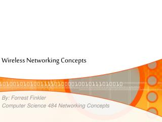 Wireless Networking Concepts