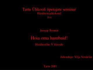 Tartu Ülikooli õpetajate seminar