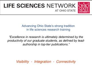 Advancing Ohio State's strong tradition in life sciences research training