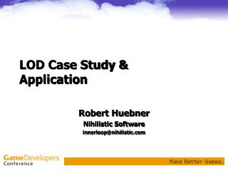 LOD Case Study & Application