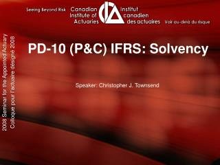 PD-10 (P&C) IFRS: Solvency