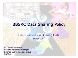 BBSRC Data Sharing Policy
