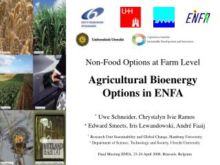 Non-Food Options at Farm Level Agricultural Bioenergy Options in ENFA