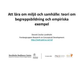 Att lära om miljö och samhälle: teori om begreppsbildning och empiriska exempel