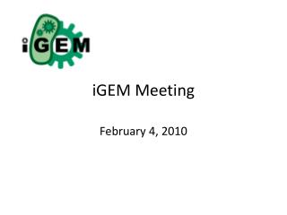 iGEM  Meeting