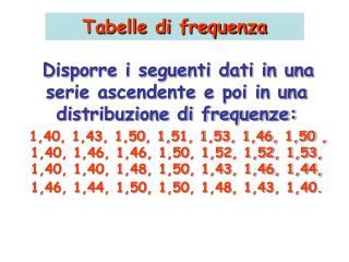 Tabelle di frequenza