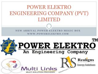 POWER ELEKTRO ENGINEERING COMPANY (PVT) LIMITED