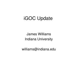 iGOC Update