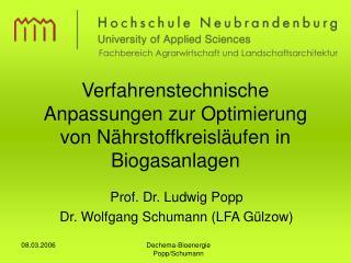 Verfahrenstechnische Anpassungen zur Optimierung von N hrstoffkreisl ufen in Biogasanlagen
