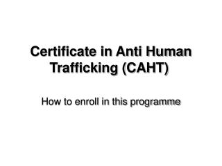 How to enroll in this programme