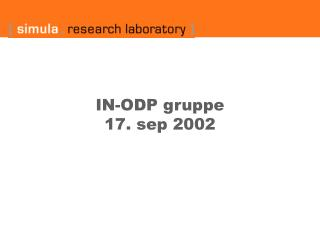 IN-ODP gruppe  17. sep 2002