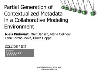 Partial Generation of Contextualized Metadata in a Collaborative Modeling Environment