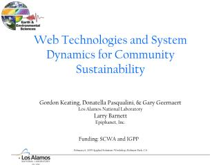 Web Technologies and System Dynamics for Community Sustainability