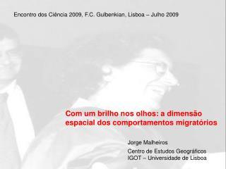 Com um brilho nos olhos: a dimensão espacial dos comportamentos migratórios