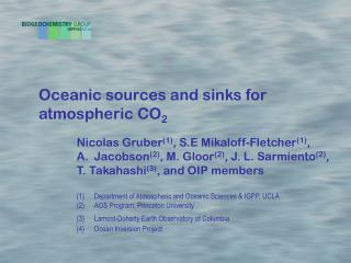 Oceanic sources and sinks for atmospheric CO 2
