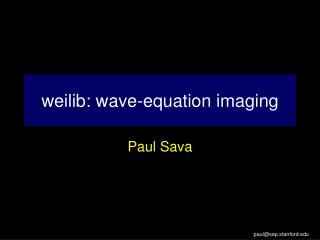 weilib: wave-equation imaging