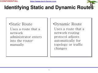 Identifying Static and Dynamic Routes
