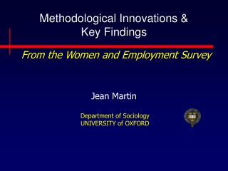 Methodological Innovations & Key Findings