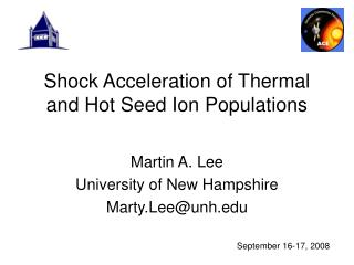 Shock Acceleration of Thermal and Hot Seed Ion Populations