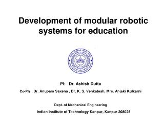 Development of modular robotic systems for education