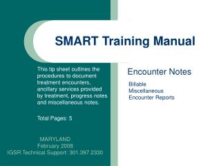 SMART Training Manual